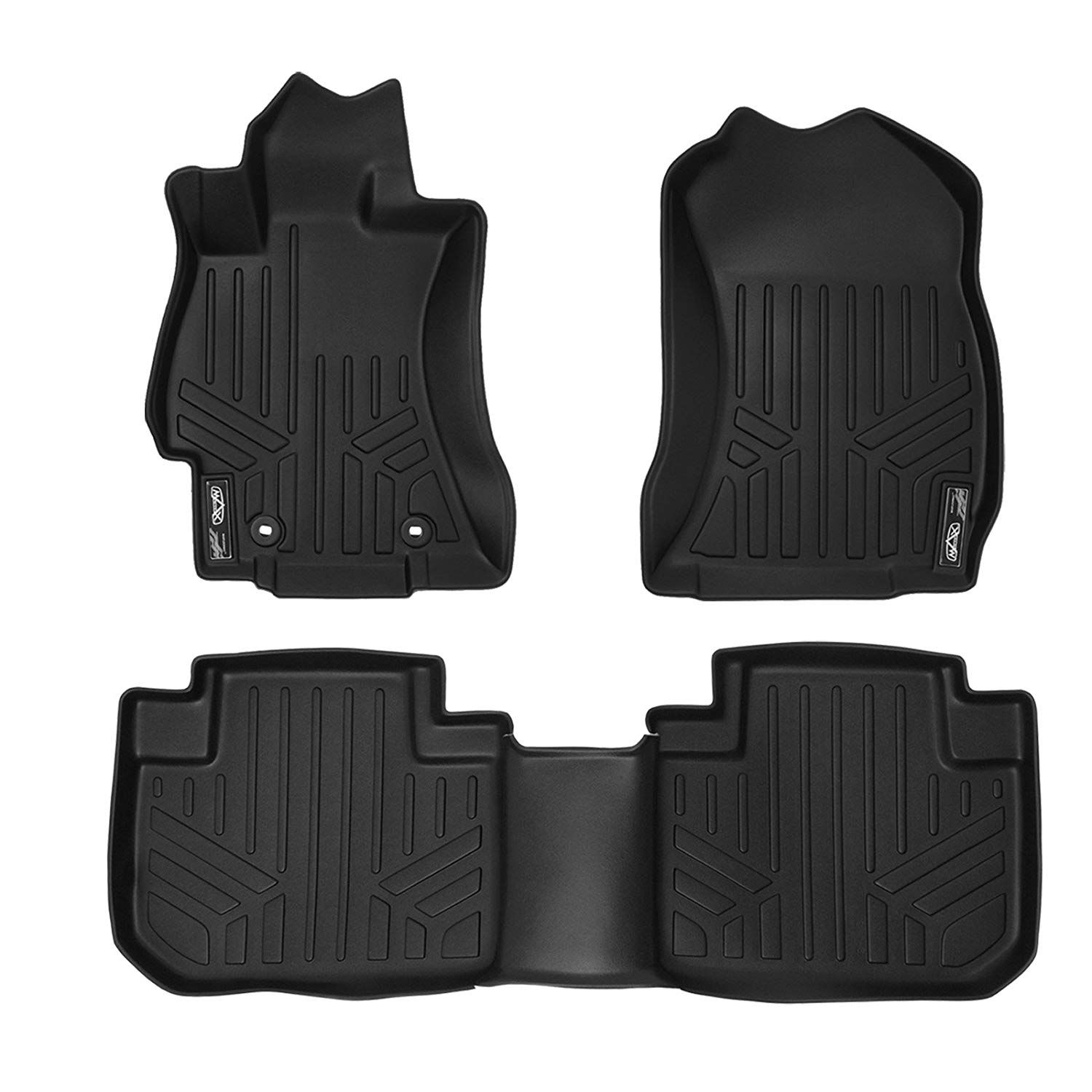 Smartliner Floor Mats 2 Row Liner Set Black For 2014 2018 Subaru Forester Check Out The Image By Visiting The Link This I Floor Mats Subaru Forester Black