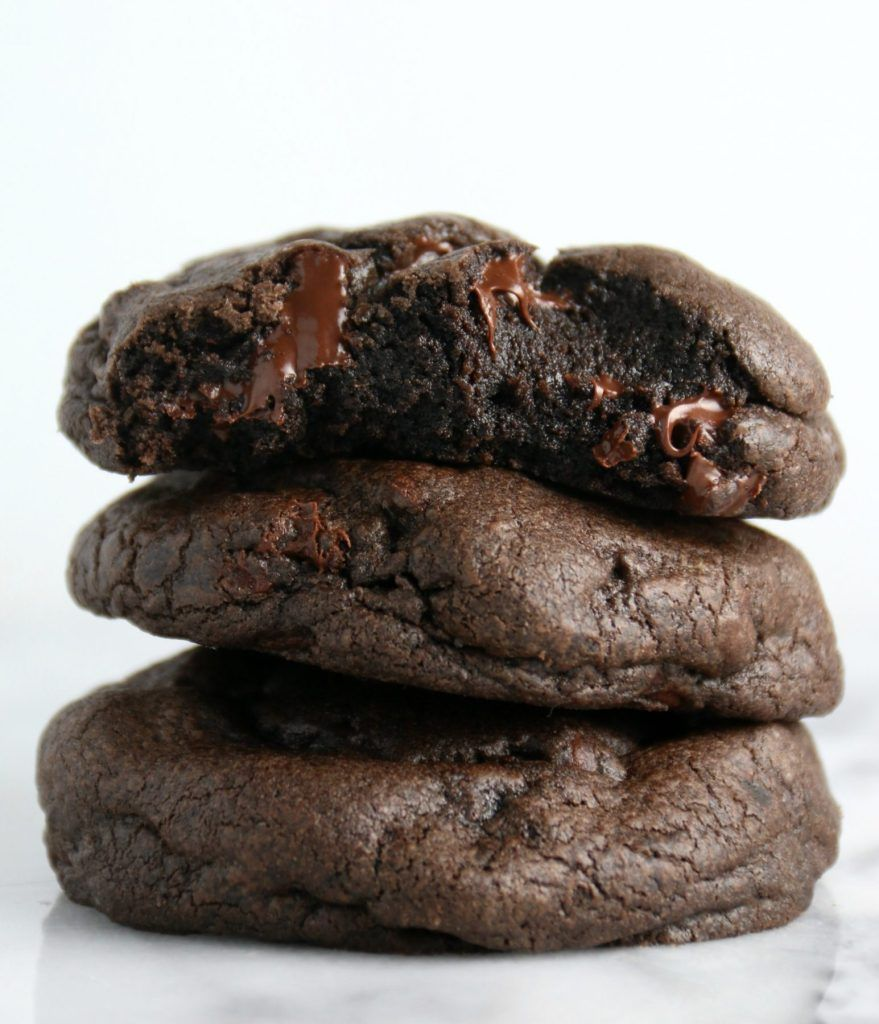 Dark Double Chocolate Cookies