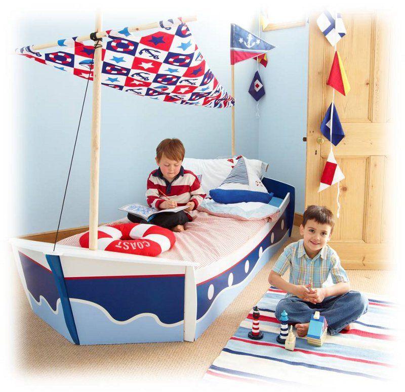Lit Bateau Enfant Diy Bed Bedroom Et Pirate Bedding