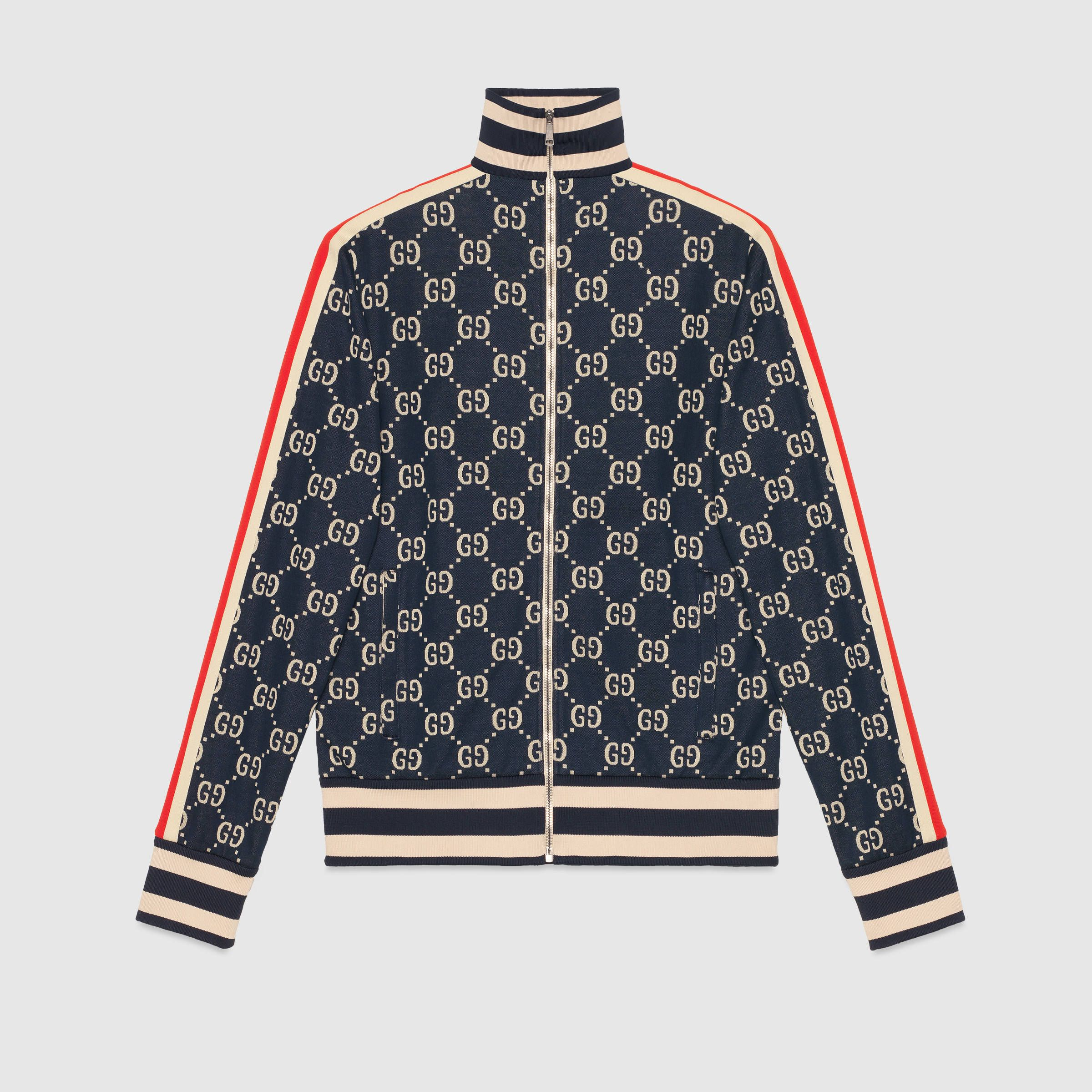 600d3907a GG jacquard cotton jacket in 2019 | Tracksuit jacket | Cotton jacket ...
