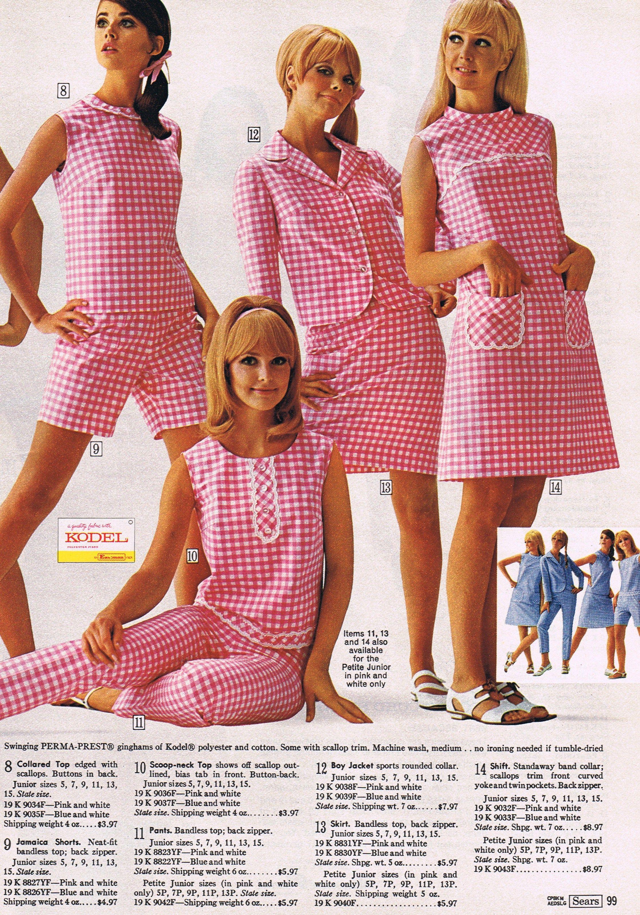 Gingham Galore...Sears 1968 | Vintage | Pinterest | Recuerdos, Años ...