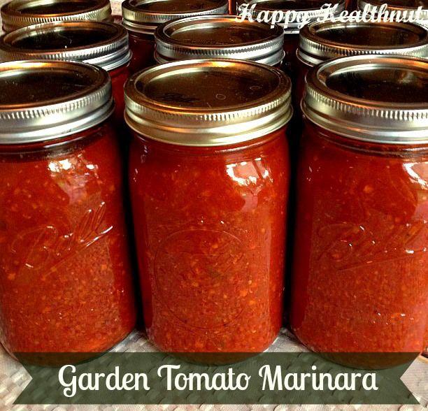 Garden Tomato Marinara - Happy Healthnut