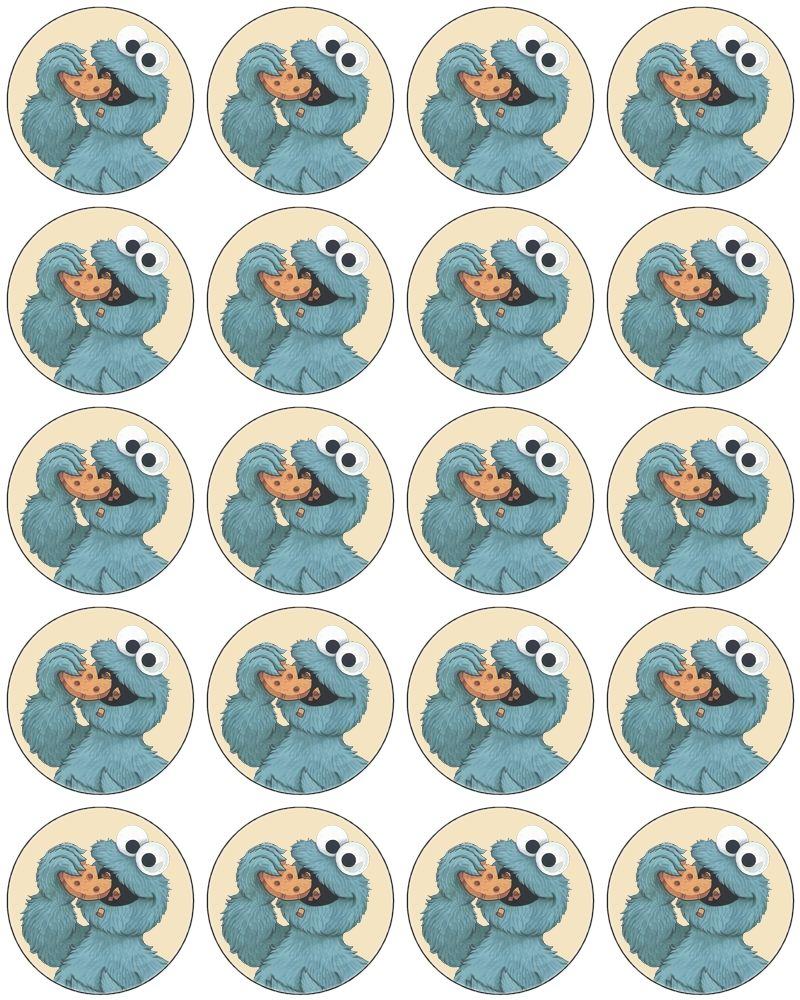 Cupcake Toppers | kids | Pinterest | Come galletas, Sesamo y Plaza ...