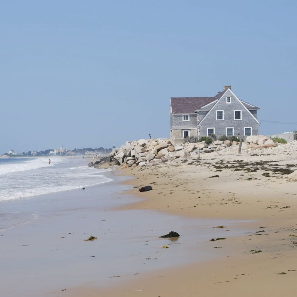 Rhode Island Beaches: Beach House At Misquamicut Beach, Rhode Island Now, If I