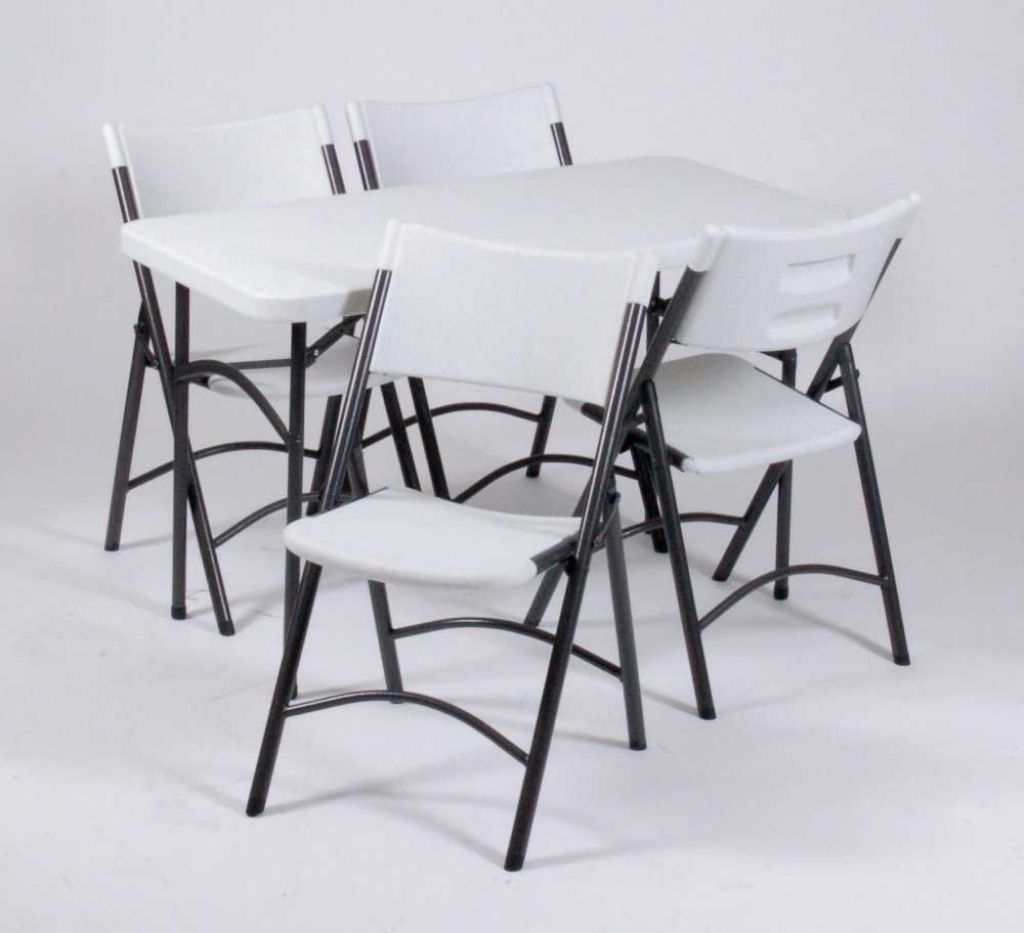 Room Design Good And Most Finishing Folding Table And Chairs Four