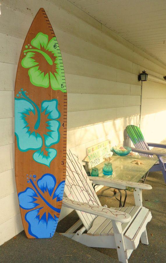 6 Foot Wood Hawaiian Surfboard Growth Chart by SerendipitySurfShop ...