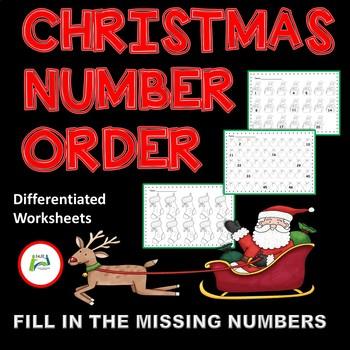 Christmas Number Order Ordering Numbers Homeschool Programs Number Order Worksheets