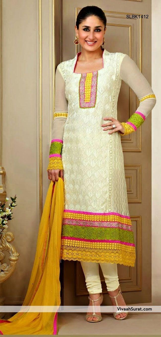 Chrysalis Cream Chunidar Suit | Indian Ethnic Wear by Samy | Pinterest
