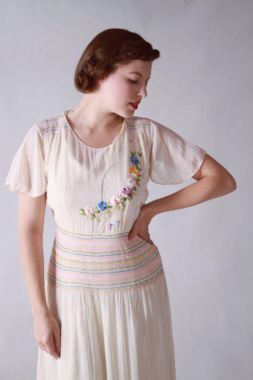Vintage 1930s Dress Rare Hungarian Peasant Dress In Sheer Etsy Vintage 1930s Dress Simple Long Sleeve Dress Peasant Dress [ 1500 x 1000 Pixel ]