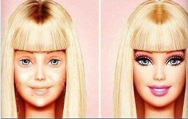 Las Famosas Antes Y Despues De Usar Maquillaje Maquillaje Barbie Maquillaje Barbie Si eres fan de los guapos: pinterest