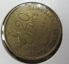 1952 France 20 Francs Coin