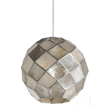 Capiz ball easy fit pendant at homebase be inspired and make your house a lamp shadeslight