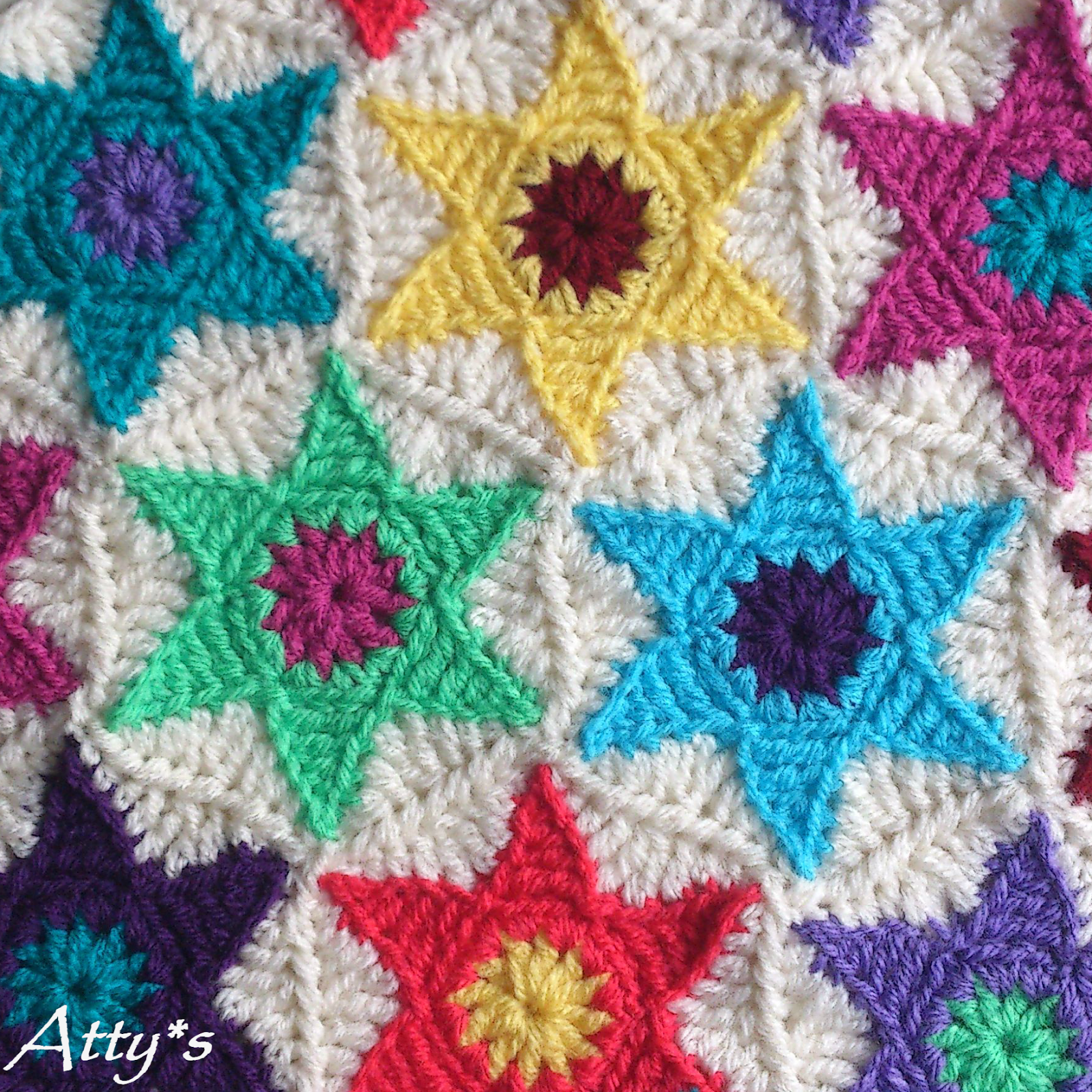 Star hexagon pattern attys crochet stars crochet and patterns star hexagon pattern attys bankloansurffo Images