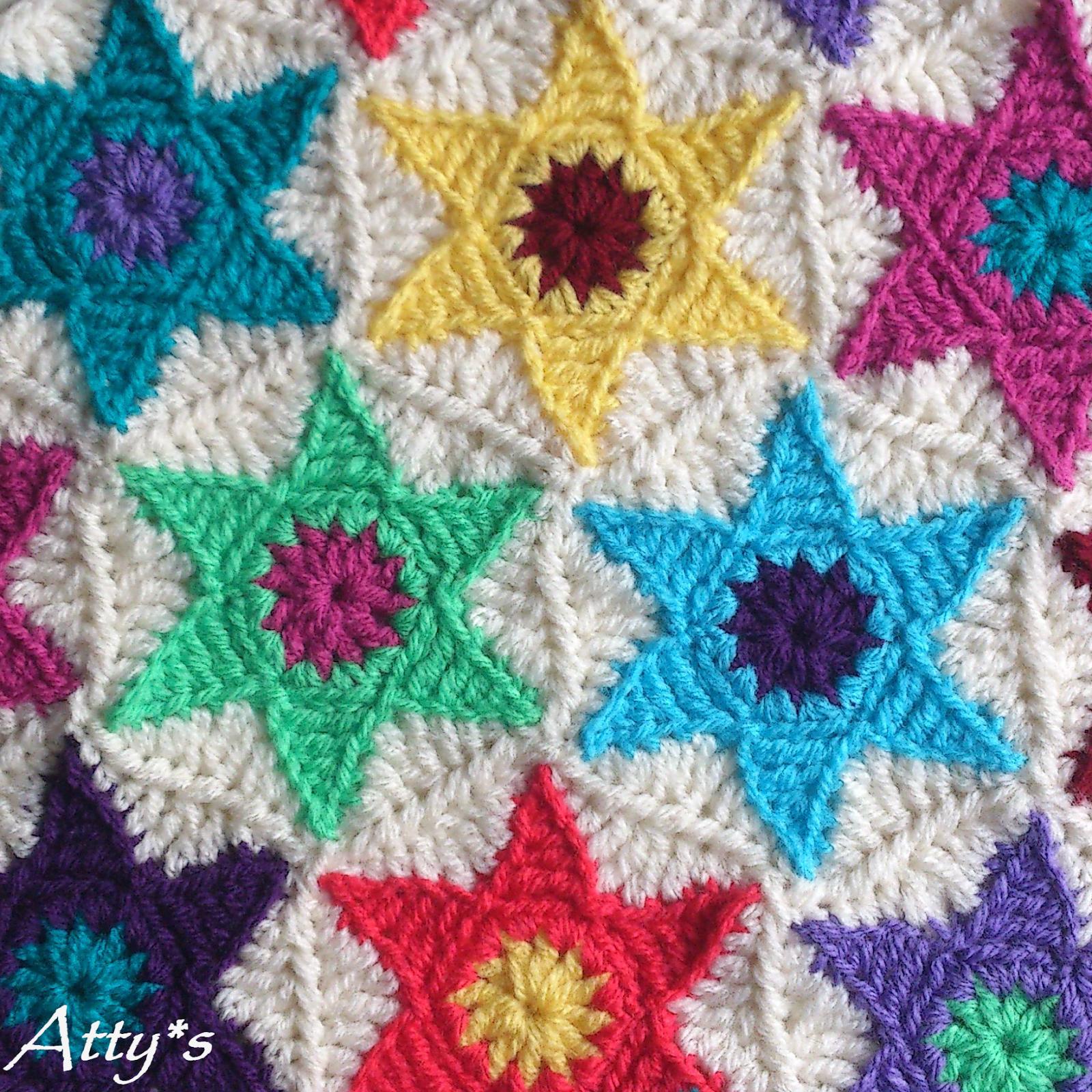 Star Hexagon Pattern (Atty\'s) | Decken, Häckeln und Häkeln