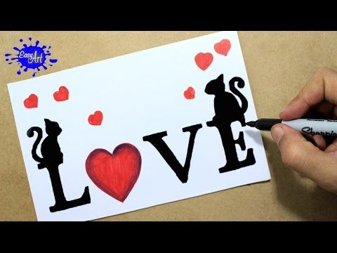 Como Dibujar Love How To Draw Love Letters Targetas De Amor Youtube Dibujos Sencillos De Amor Dibujos Faciles De Amor Dibujos De Amor Faciles, artisticos, paso a paso. como dibujar love how to draw love