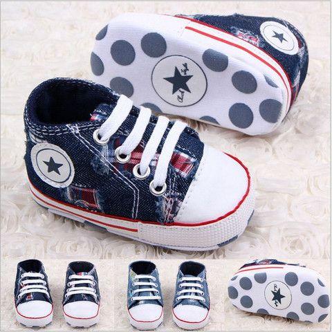 chinatera Baby Boys White Bind Soft Toddler Prewalker Anti-Slip Canvas Shoes Walker