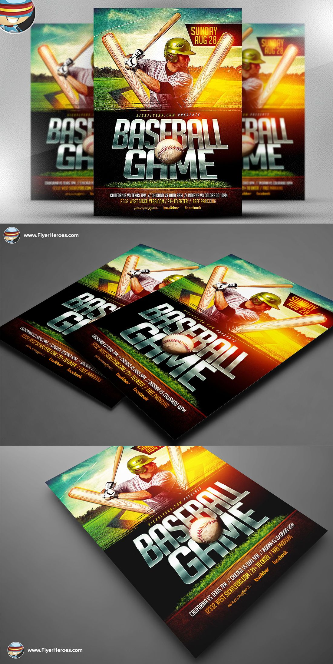 Baseball Flyer Template Psd  Flyer Templates    Flyer