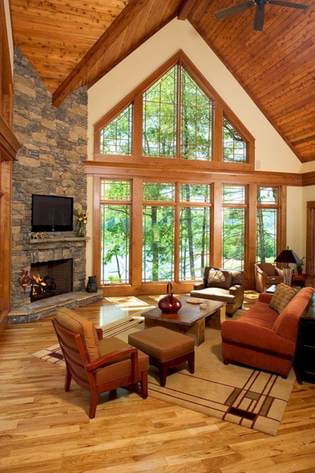 49 Superb Cozy And Rustic Cabin Style Living Rooms Ideas Freshouz Com Rustic Living Room Design Cabin Style Cabin Style Furniture