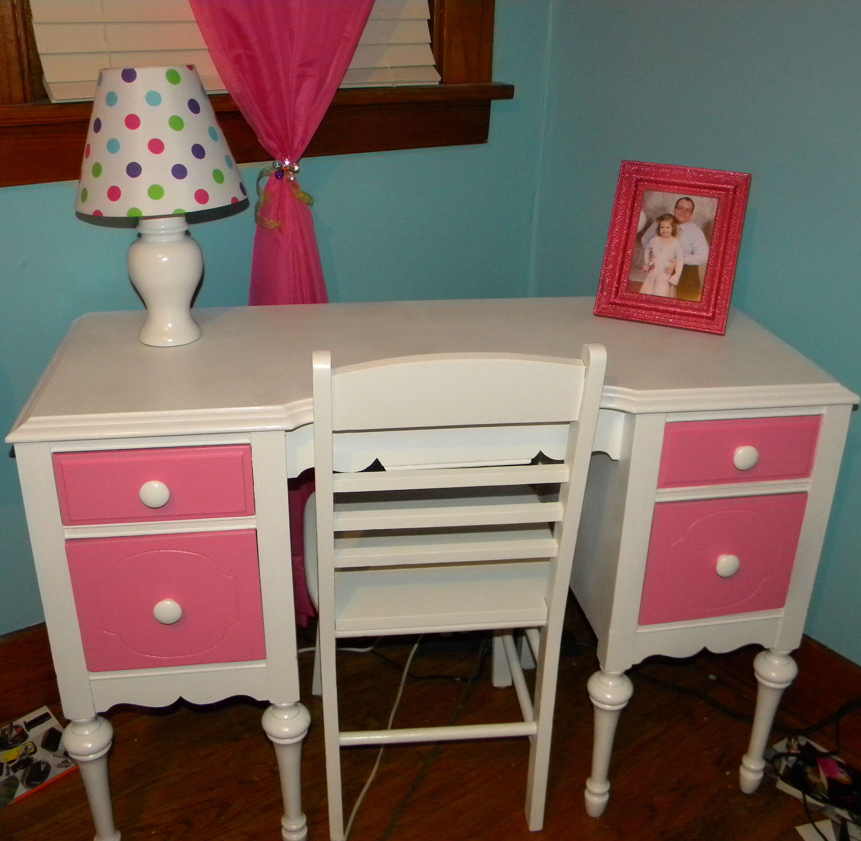 antique desk i found stripped sanded and spray painted on desk color ideas id=46459