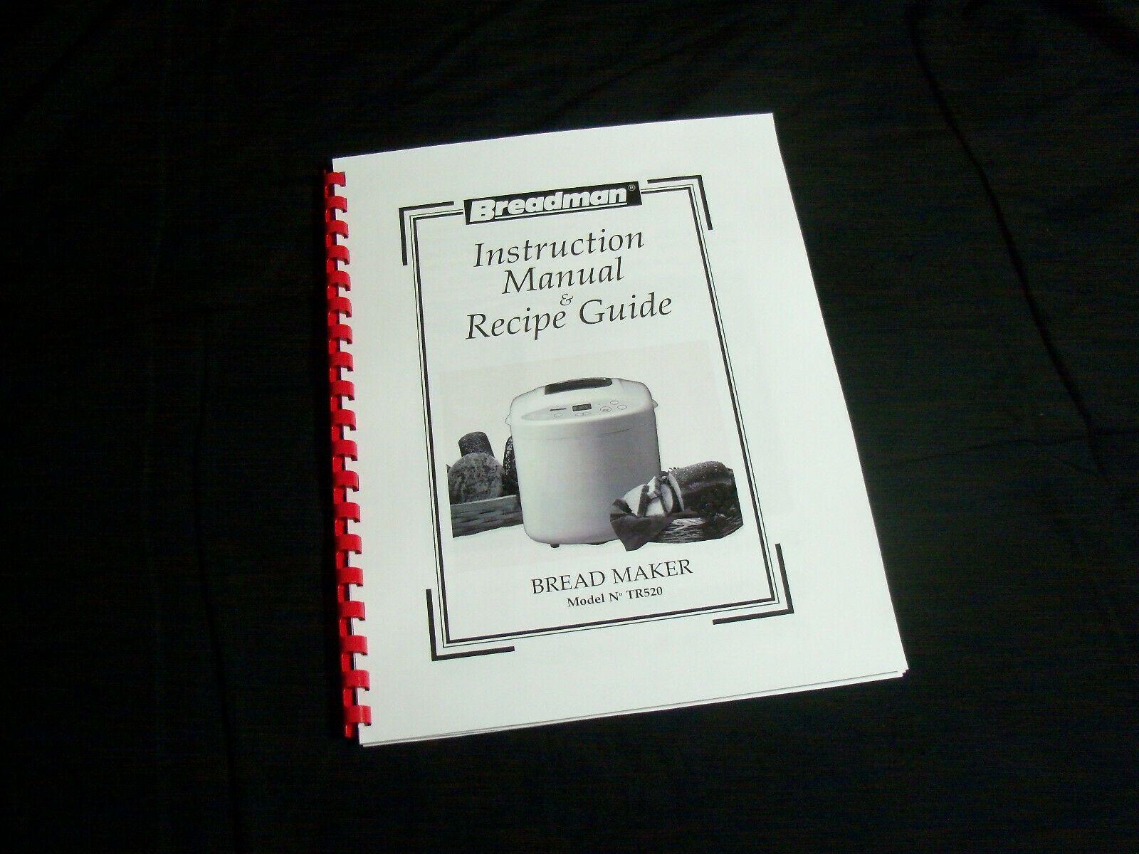 Breadman Bread Maker Machine Directions Instruction Manuals w// Recipes Various