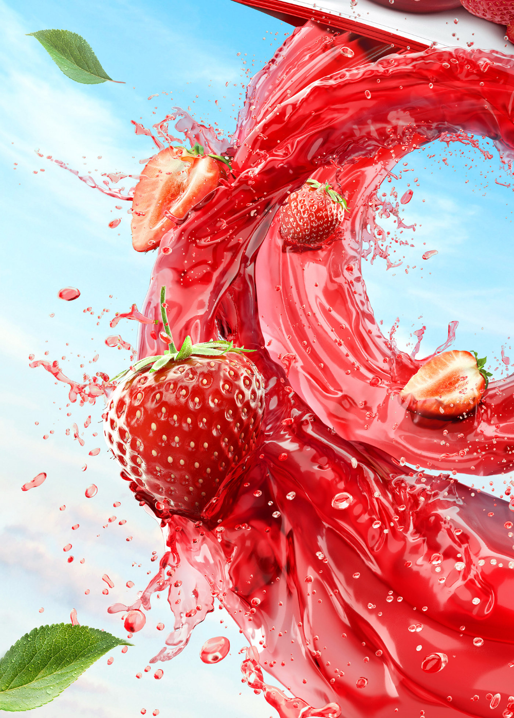 Behance For You Fruit Wallpaper Fruit Splash Food Poster Design