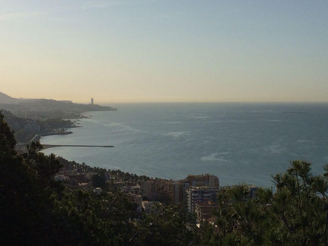Mediterranean Sea from Gibralfaro.