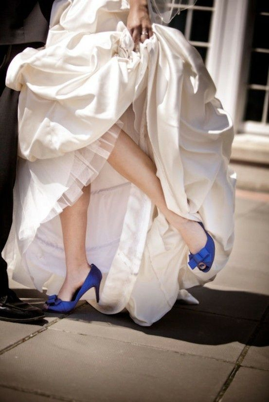 Peek Of Shoes From Under Bride S Dress Brideside Wedding