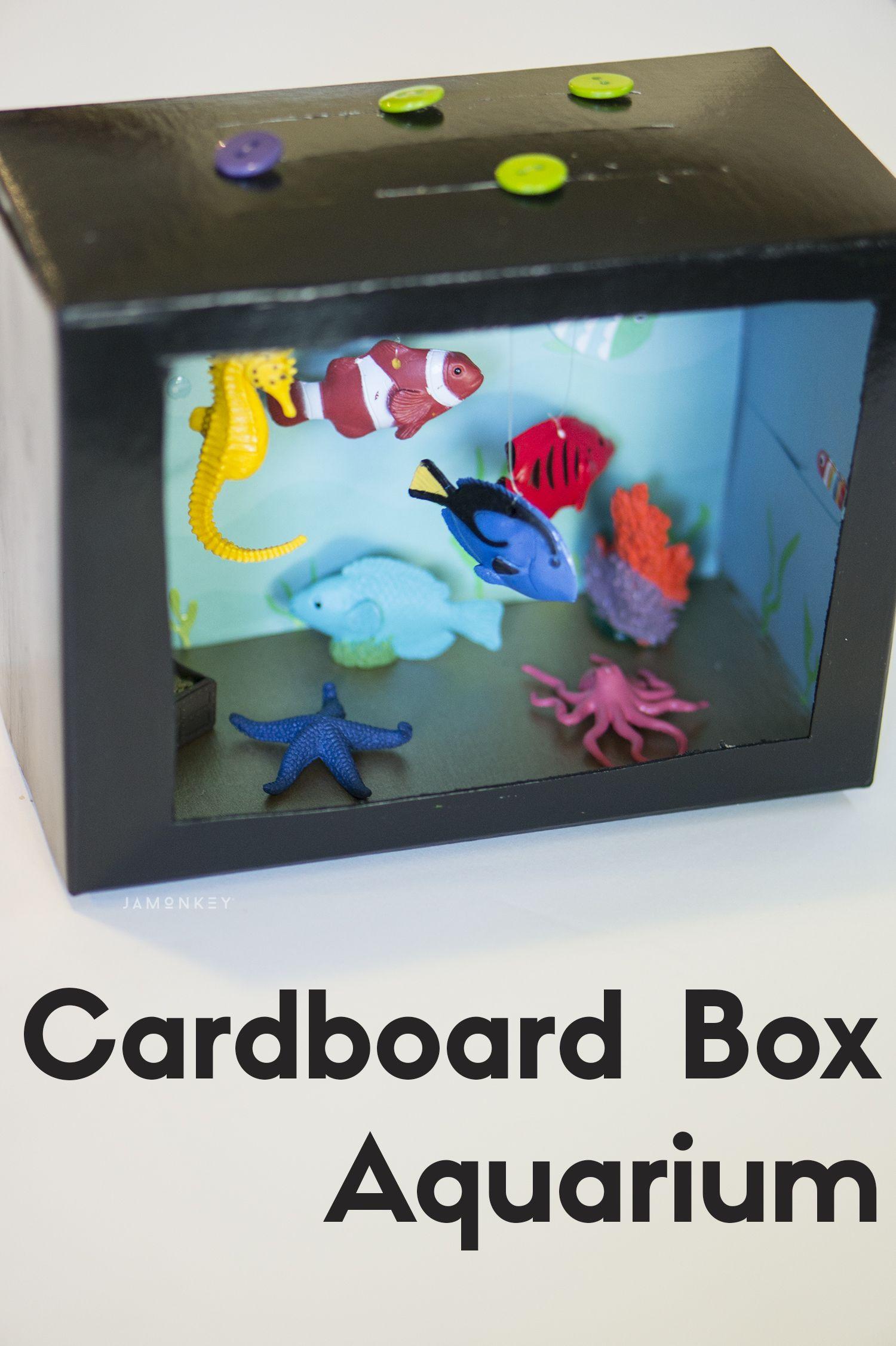 Project for kids Cardboard Box Aquarium
