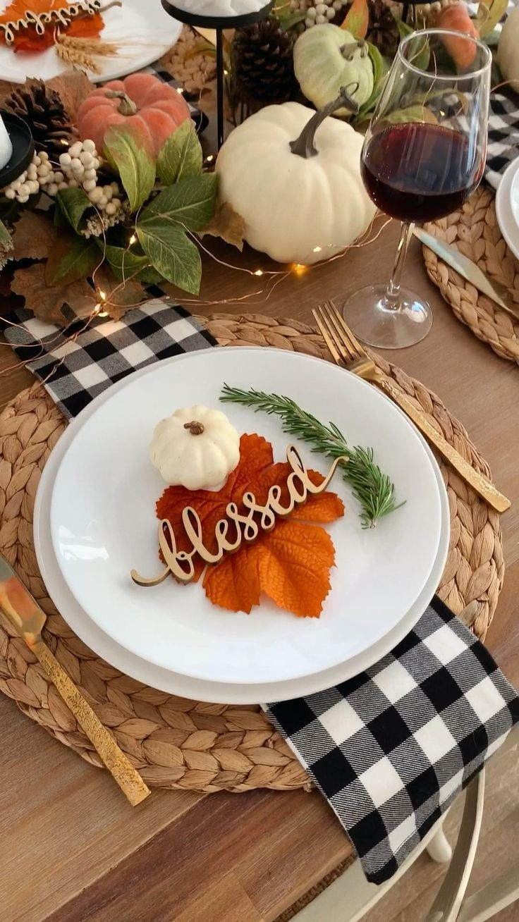 Thanksgiving Place Setting Card, Thanksgiving Table Decor, Thanksgiving Tablescape, Fall Tabletop, F