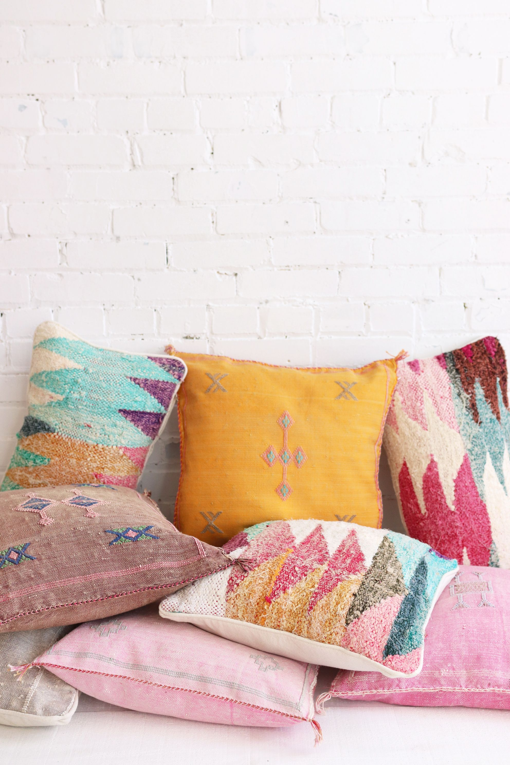 Better Together Beautiful Moroccan Pillows From Baba Souk Kelim
