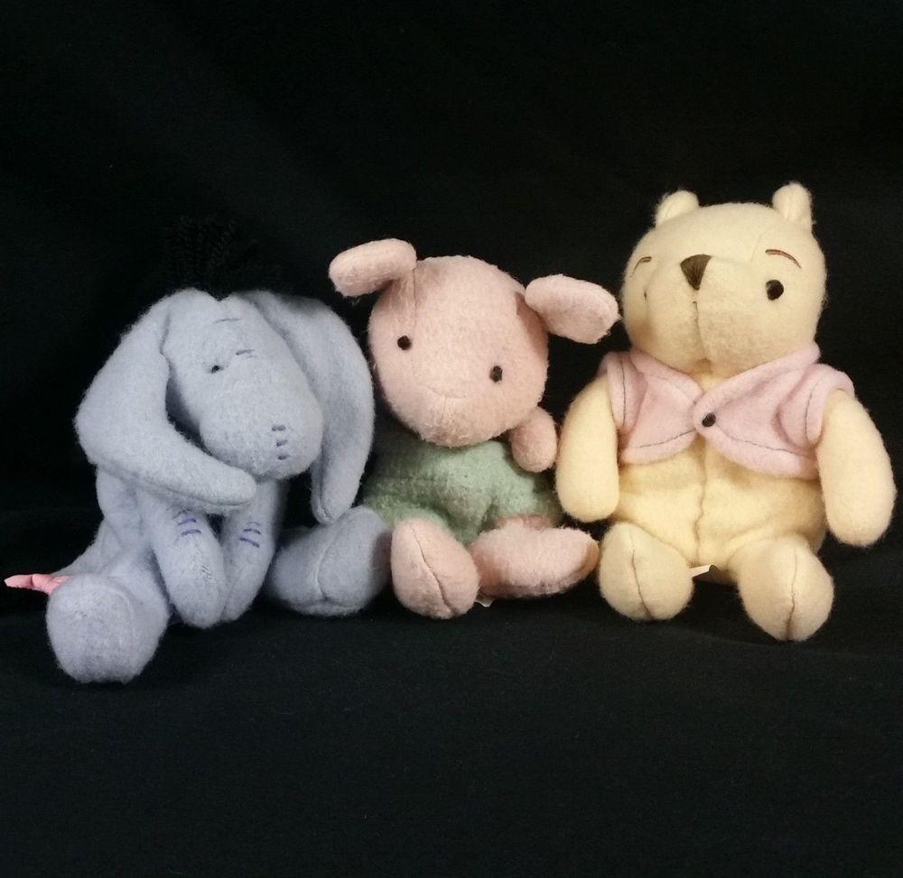 Winnie The Pooh Classic Disney Beanbag Plush Set Piglet Eeyore