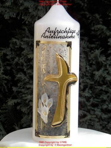 Trauerkerze-Blumen-in-3-D-und-innen-Bluetenstange-gold
