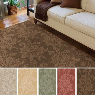 Hand-loomed Tone-on-Tone Otero Floral Wool Area Rug (8' x 10') - 15947419 - Overstock.com Shopping - Great Deals on Remi & Cabot 7x9 - 10x14 Rugs