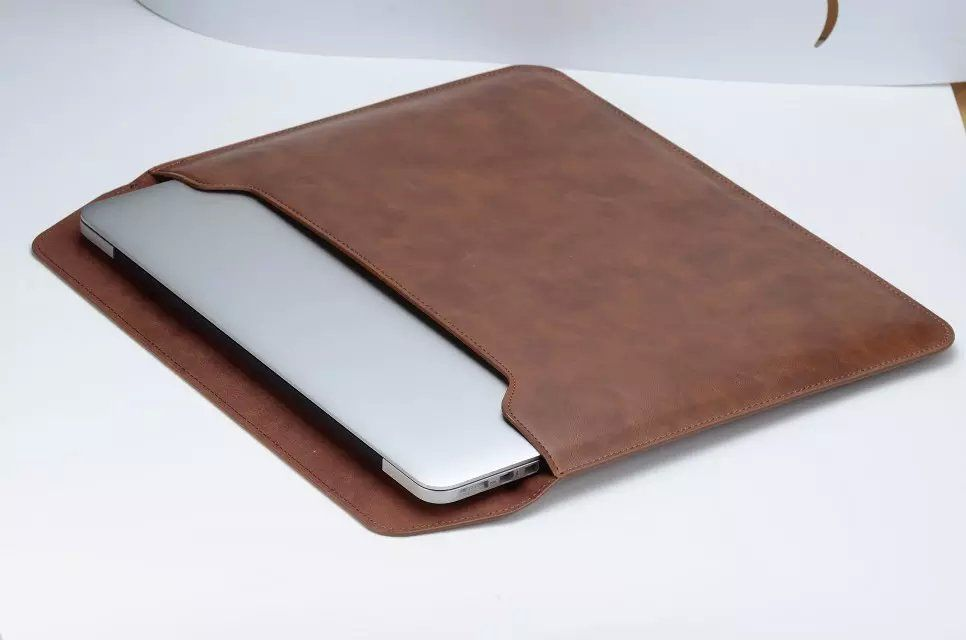 Fashion Artificial Leather Sleeve Bag Laptop Case Cover For Macbook Air Retina 11 12 13 Pro 13 15 Inch Macbook Leather Macbook Leather Sleeve Macbook Air Cover