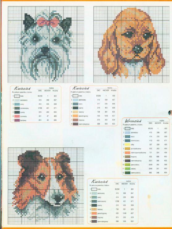 Gallery.ru / Фото #30 - собаки, схемы вышивок из интернета ...