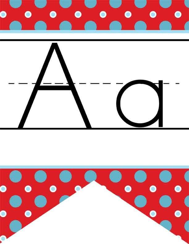 CIRCUS - Alphabet Flag Banner, handwriting, A to Z, ABC