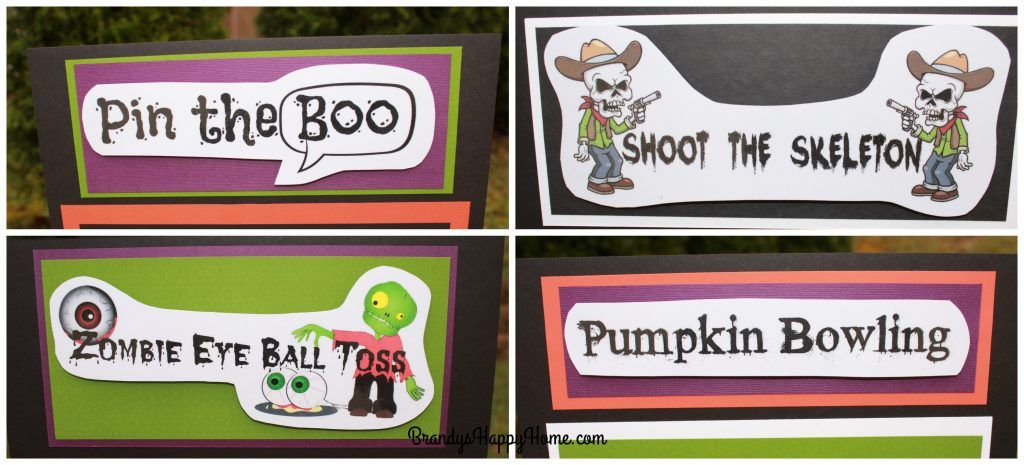 halloween game signs