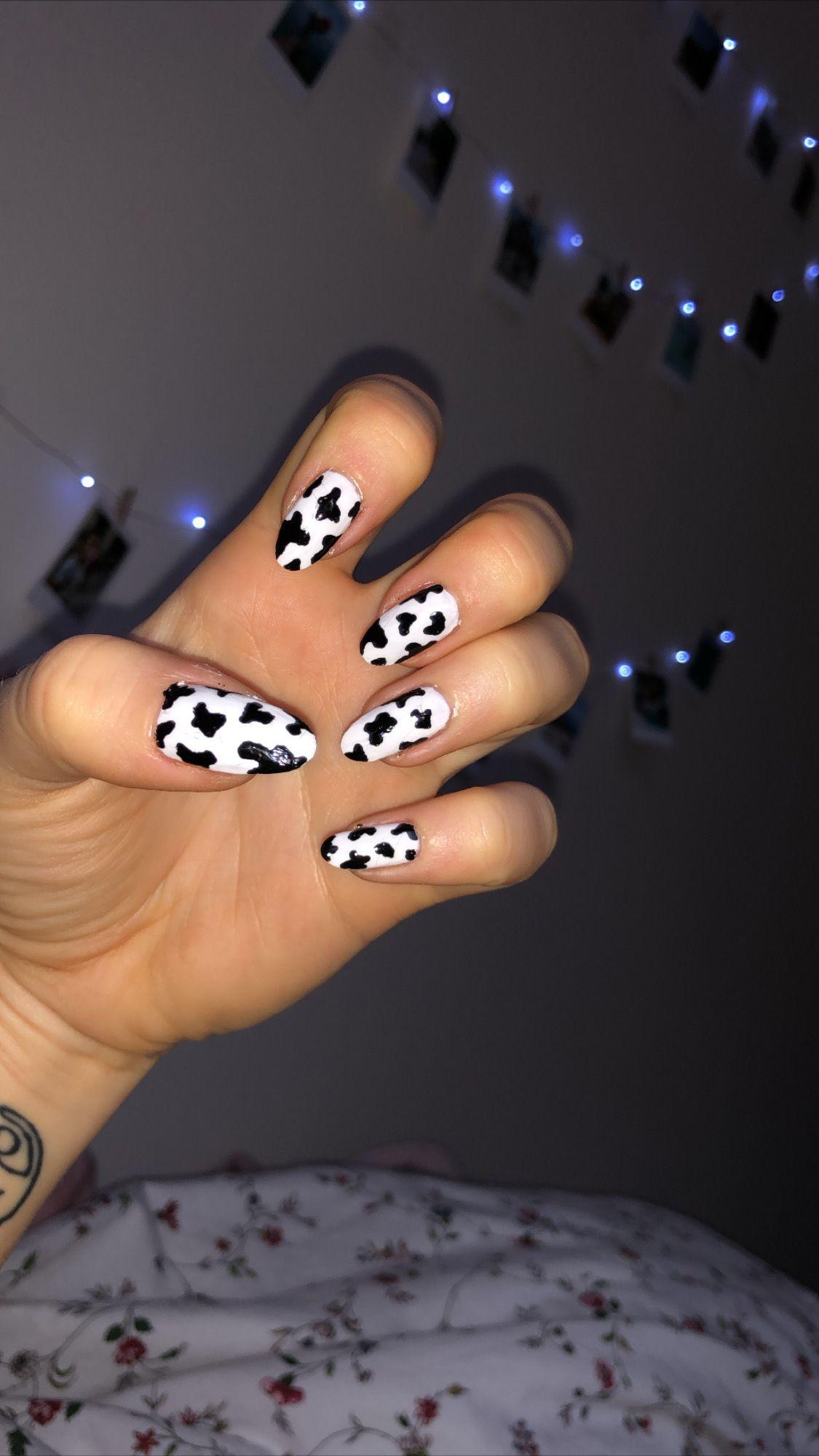 Cow Nails En 2020 Unas
