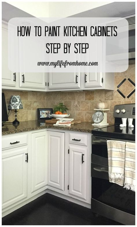 Step by Step instructions on how to paint oak kitchen cabinets. All supplies are listed. Itu0027s a project that anyone can do! What a difference it will make. & DIY: How I Painted My Kitchen Cabinets | DIY Home Ideas | Pinterest ...