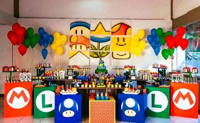 Fiesta Temática Mario Bros Para Niños De Todas Las Edades Fiesta De Mario Bros Decoracion De Mario Bros Piñata Mario Bros
