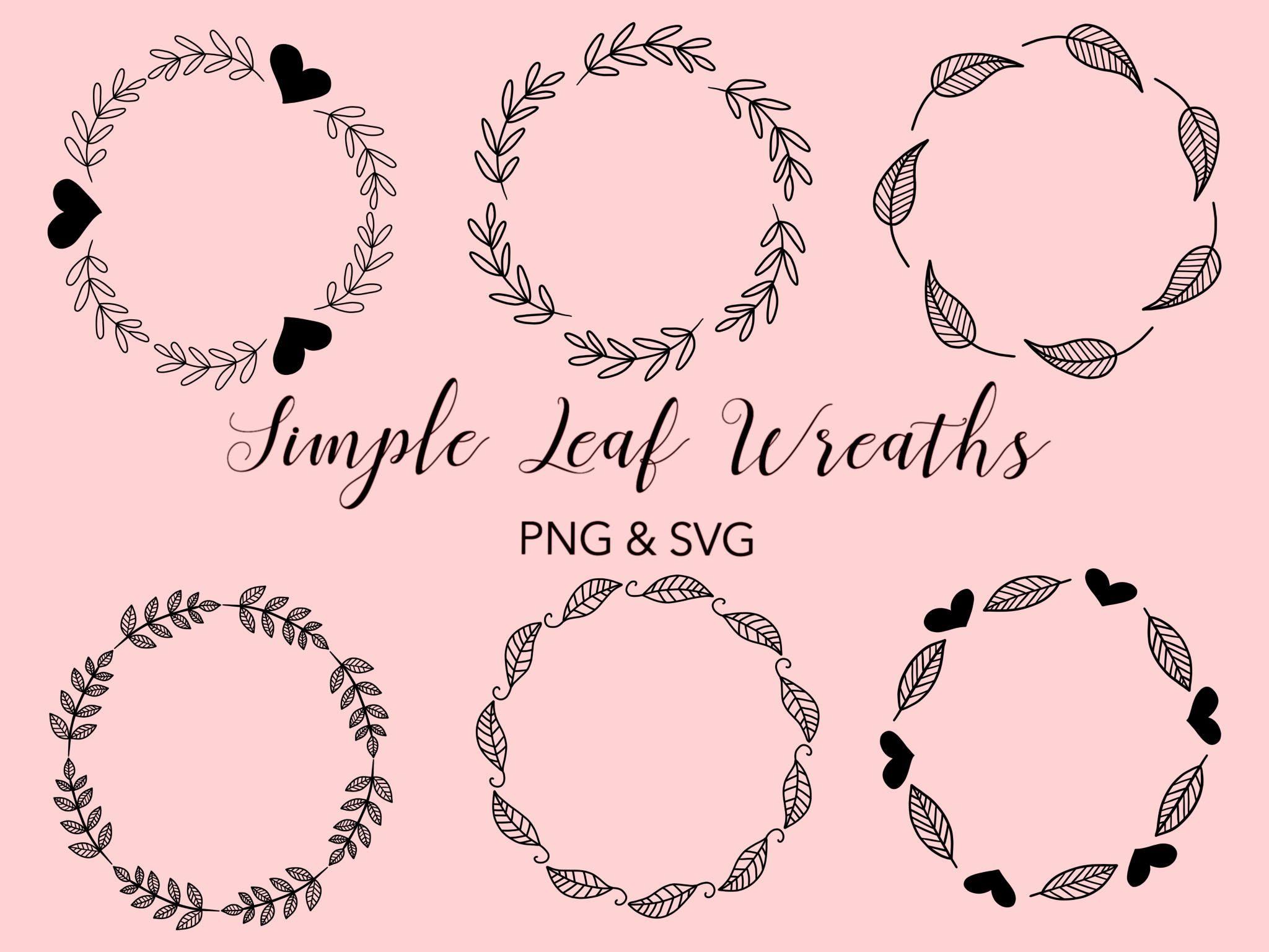 Photo of FLORAL WREATHS, hand-drawn wreaths, doodle clipart, floral wreaths, rustic, drawn wreaths, svg, vector wreaths, wedding, minimal, cricut