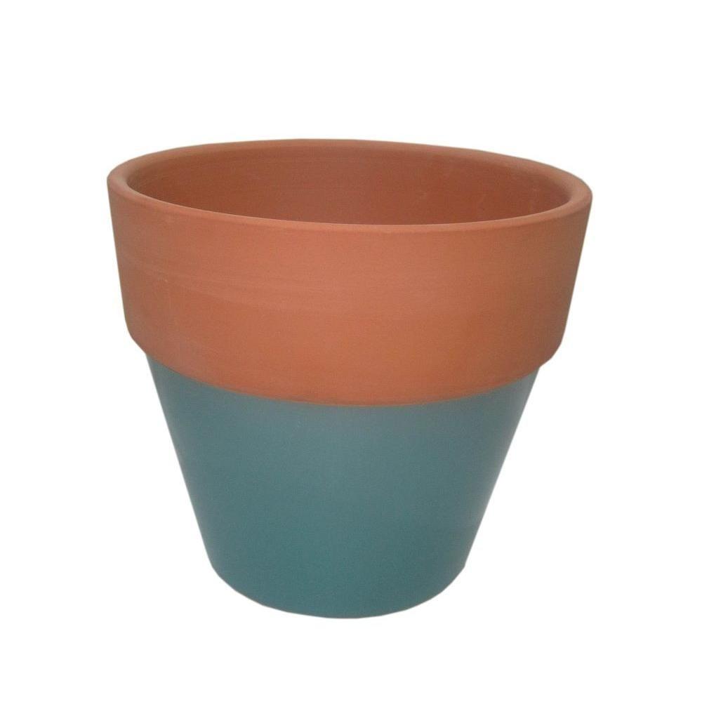 6 1 2 In Round Glazed Clay Flower Pot Ybh027 Clay Flower Pots