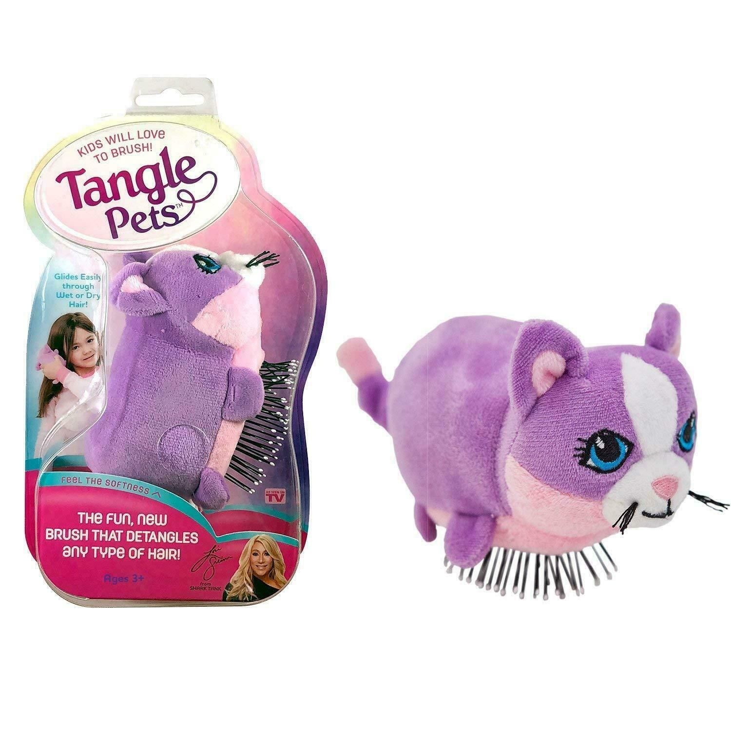Tangle Pets Cupcake the Cat Hair Brush As Seen On Shark