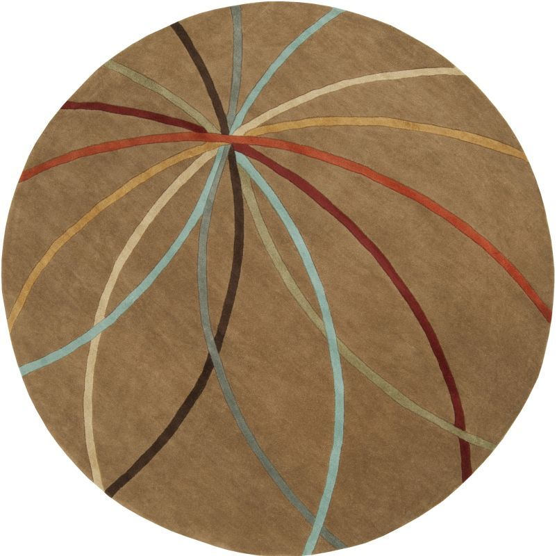 Surya FM-7140 Forum Hand Tufted Wool Rug Round 8 x 8 Home Decor Rugs Rugs