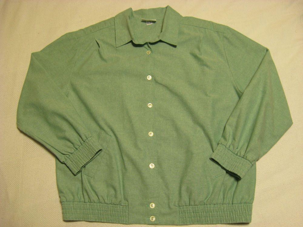 Womens Jacket Size 16 VINTAGE ALFRED DUNNER Lightweight Pale Green #AlfredDunner #BasicJacket
