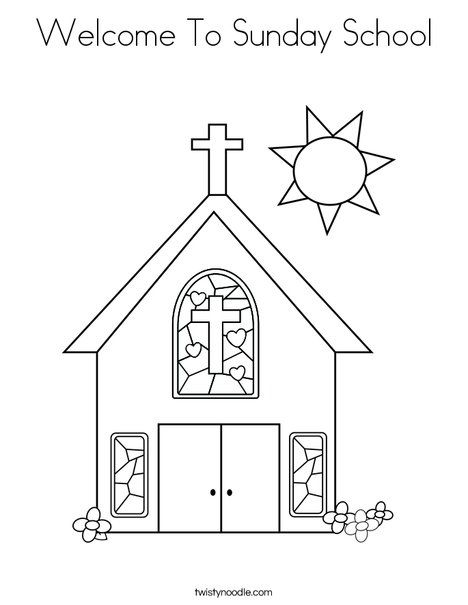 Welcome To Sunday School Coloring Page Twisty Noodle Sunday