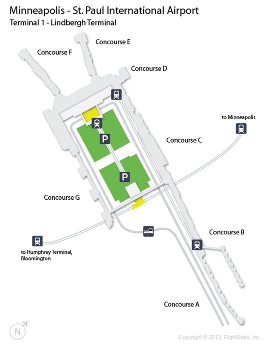 MSP MinneapolisSt Paul International Airport Terminal Map