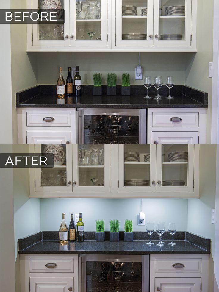 1 Bar Led Under Cabinet Lighting Kit Cool White 9 Under