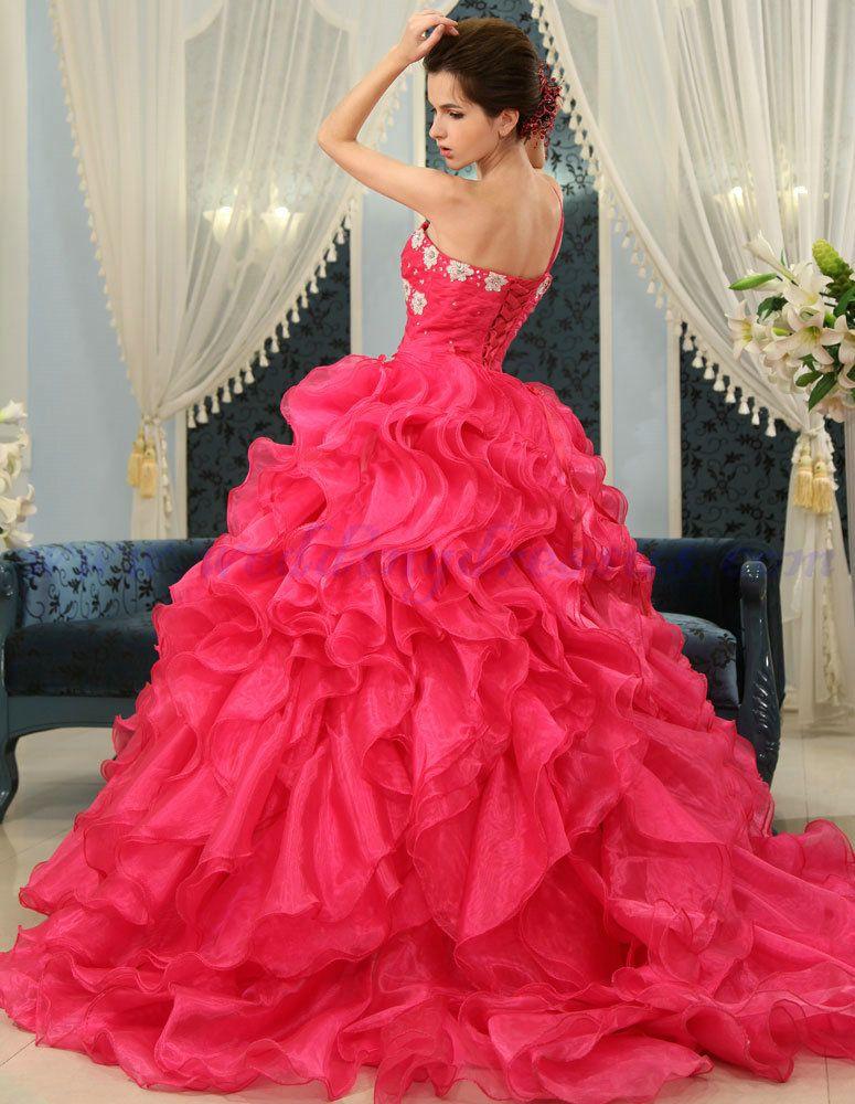 fuschia bridesmaid dresses | Buy Fashion Color One Shoulder Fuschia ...