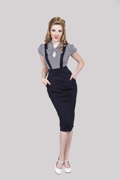 1940s Navy Suspender skirt 299a90e2e